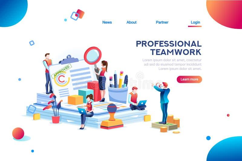 Arbeit am Büro-Dokument Clipart Infographic lizenzfreie abbildung
