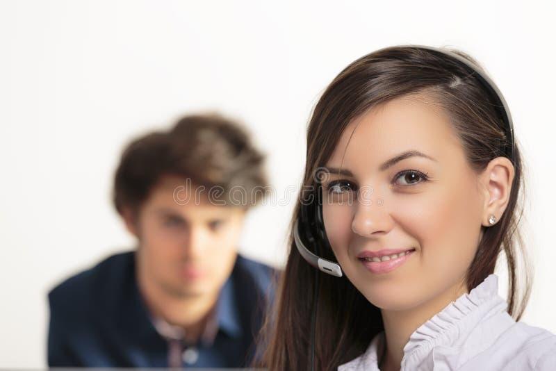 Arbeit gut erledigt! Glückliche Kunden! stockbilder