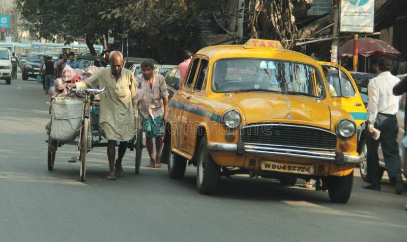 Arbeit in Kolkata stockfoto