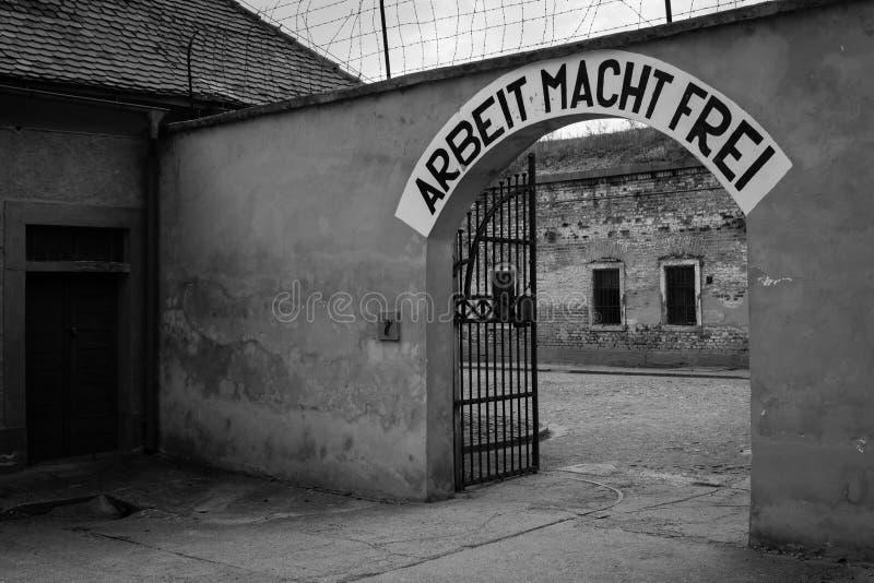 Arbeit Macht Frei - Nazi-` s Slogan lizenzfreie stockbilder