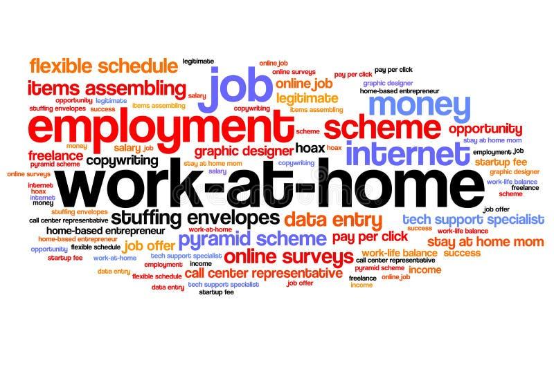 Arbeit zu Hause lizenzfreie abbildung