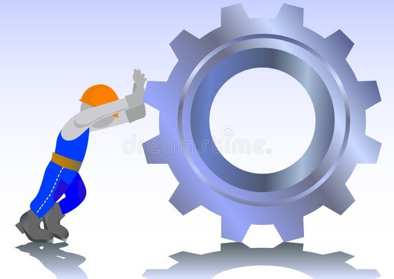 Arbeiten an der Fabrik stock abbildung