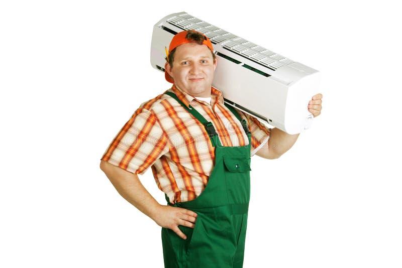 Arbeiten mit Klimaanlage   lizenzfreies stockfoto