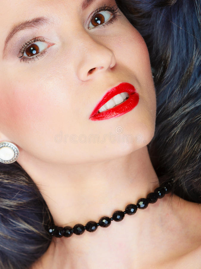 Arbeiten Sie Frau im Pelzmantel, Damenporträt um lizenzfreie stockbilder