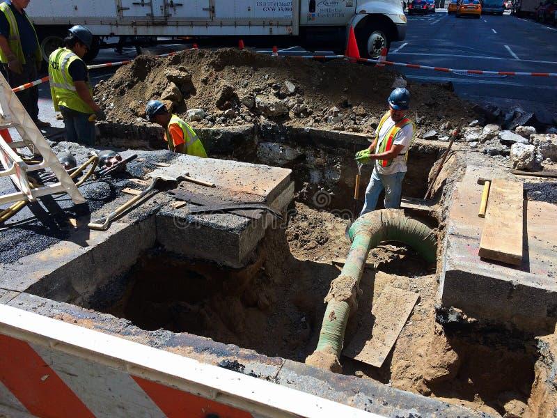 Arbeiten unter der Straße in NYC -2 lizenzfreies stockfoto