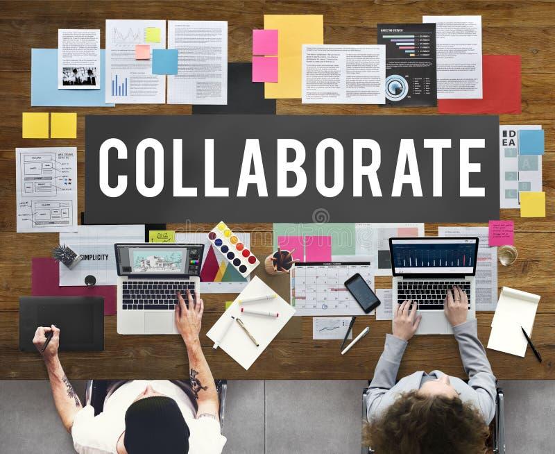 Arbeiten Vereinbarungs-Zusammenarbeits-Partner-Konzept zusammen lizenzfreie stockbilder