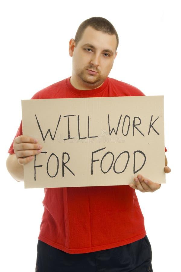 Arbeitet für Nahrung. lizenzfreie stockbilder