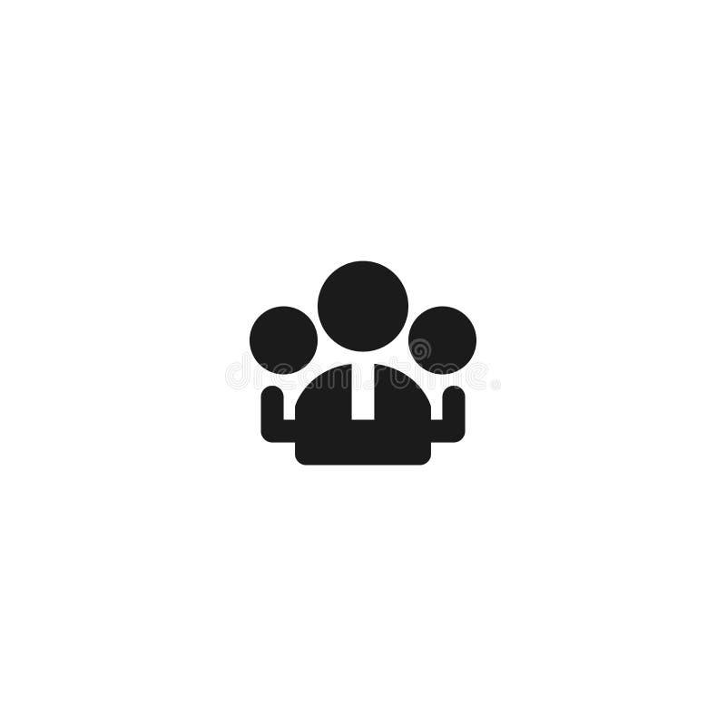 Arbeitnehmergruppe Ikonenentwurf Arbeitskraftgemeinschaftssymbol einfache saubere Berufsgeschäftsführungs-Konzeptvektorillustrati stock abbildung