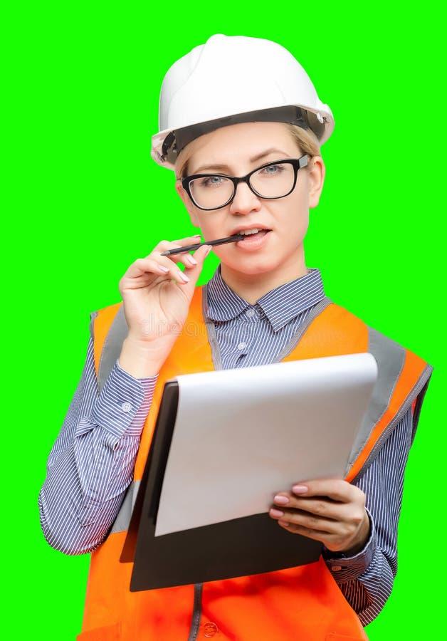 Arbeitnehmerinporträt stockfotografie