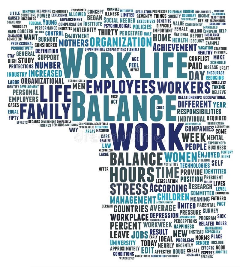 Arbeits-Leben-Schwerpunkt lizenzfreie abbildung