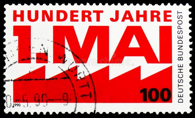 Arbeits- Tag, Jahrhundert von Arbeits- Tag-serie, circa 1990 lizenzfreie stockbilder