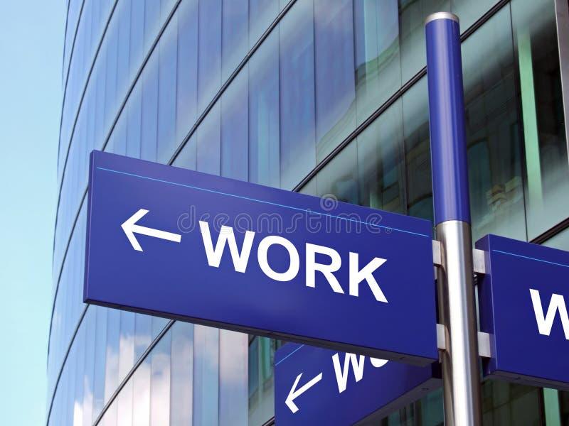 Arbeits-Zeichen lizenzfreie stockfotos