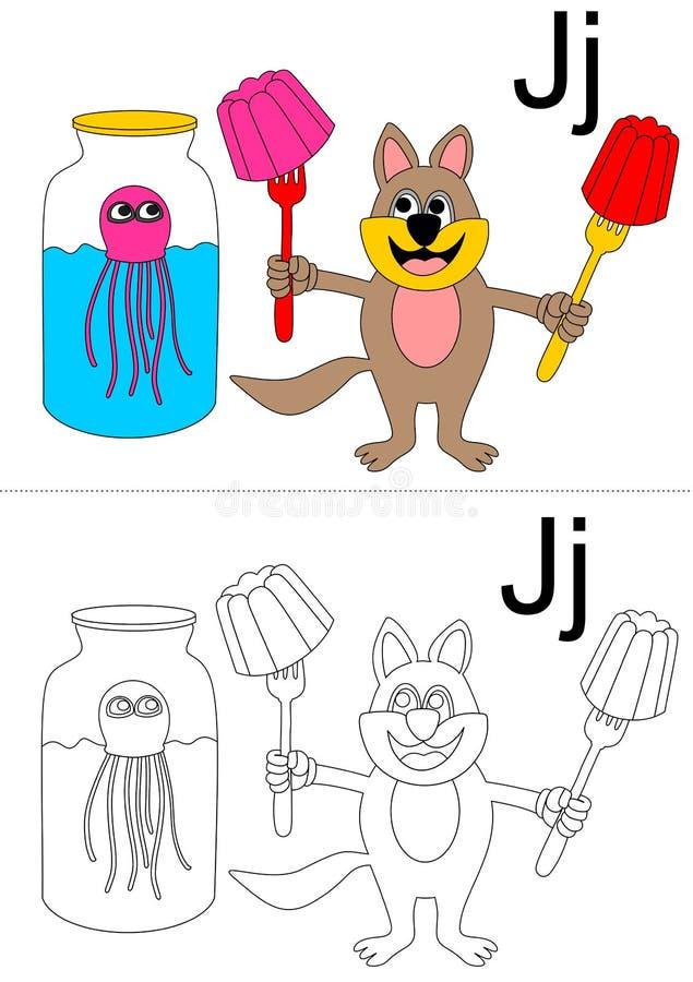 Arbeitsblatt Des Buchstaben J Vektor Abbildung - Illustration von ...