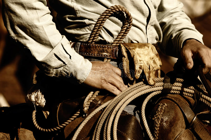 Arbeitscowboy-Nahaufnahme lizenzfreie stockfotos