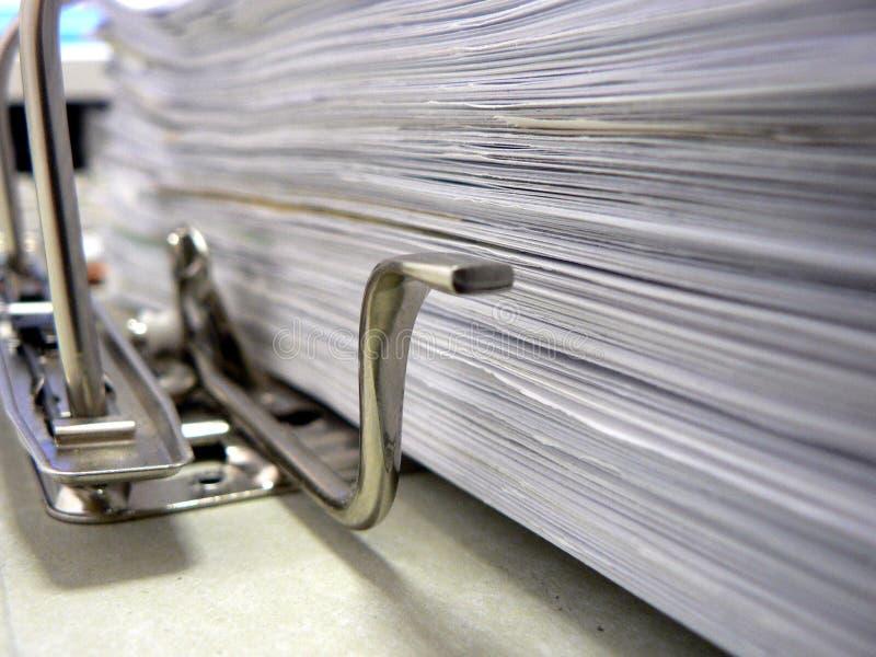 Arbeitsdokumente stockbilder