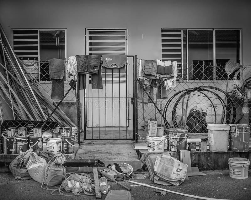 Arbeitshaus während des Werktags lizenzfreie stockfotografie