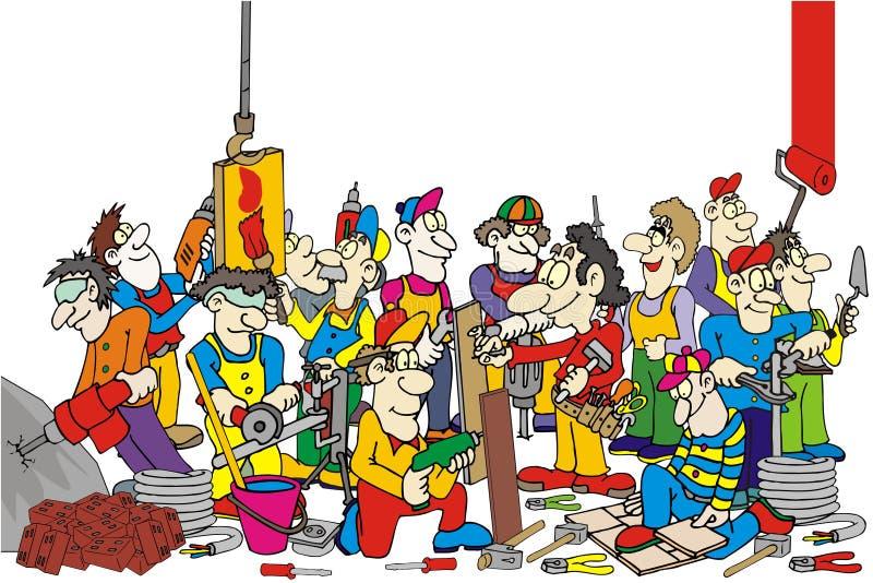 Arbeitskräfte stock abbildung