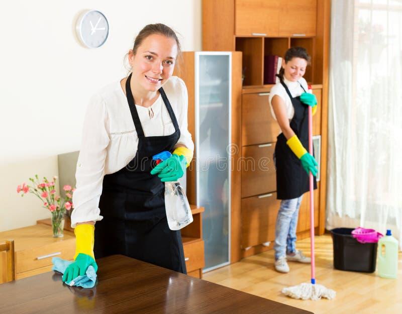Arbeitskräfte der Reinigungsfirma lizenzfreie stockfotografie