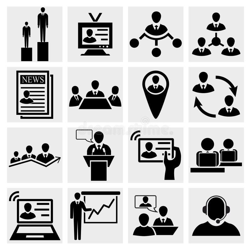 Arbeitskräftepotenzial und Management lizenzfreie abbildung