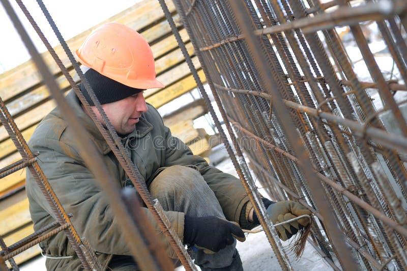Arbeitskraft an der Baustelleherstellung stockbilder