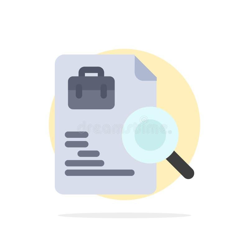 Arbeitskraft, Dokument, Suche, Jobs extrahieren flache Ikone Farbe des Kreis-Hintergrundes lizenzfreie abbildung