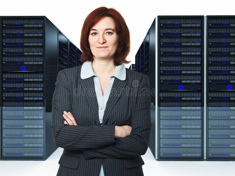 Arbeitskraft im datacenter stockfotografie
