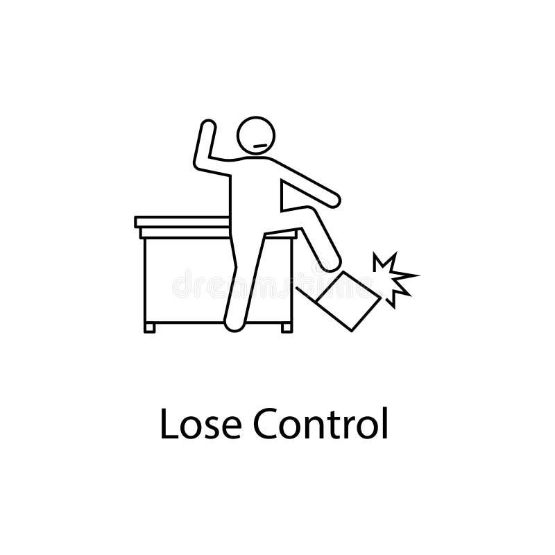 Arbeitskraft ist verlierende Steuerikone Elementleute am Arbeitsplatz für bewegliche Konzept und Netz apps Dünne Linie Ikone für  stock abbildung