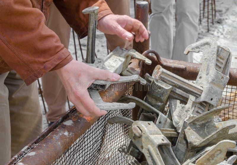 Arbeitskraft- und Binderstücke stockbild