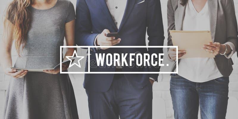 Arbeitskraft-Zusammenarbeits-zusammenarbeitendes Partner-Konzept lizenzfreies stockbild