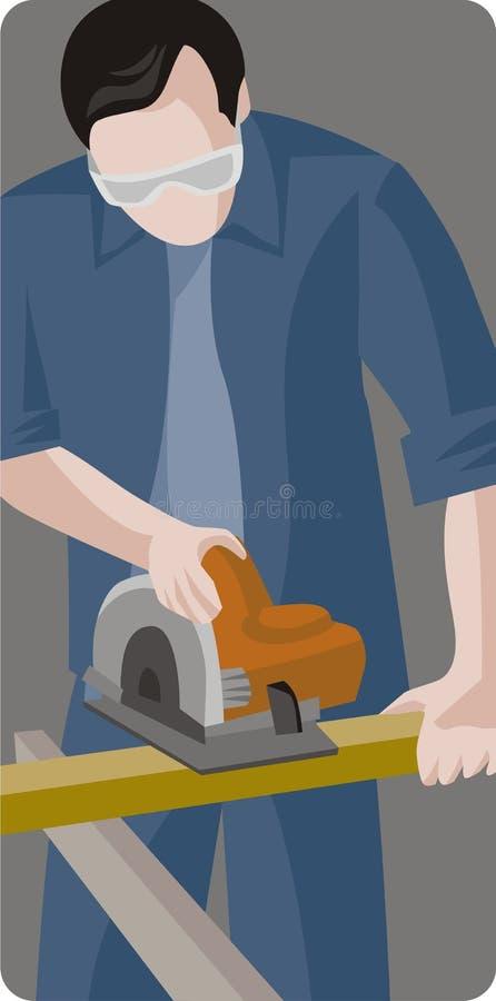 Arbeitskraftabbildungserie stock abbildung