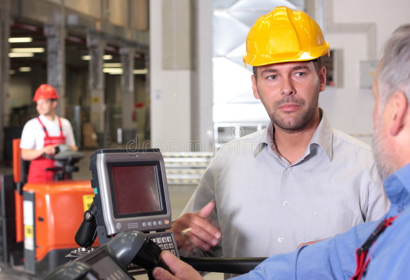 Arbeitskraftdiskussion lizenzfreie stockbilder