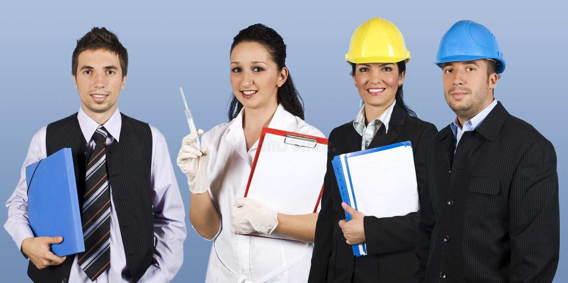 Arbeitskraftleutegruppe stockfoto