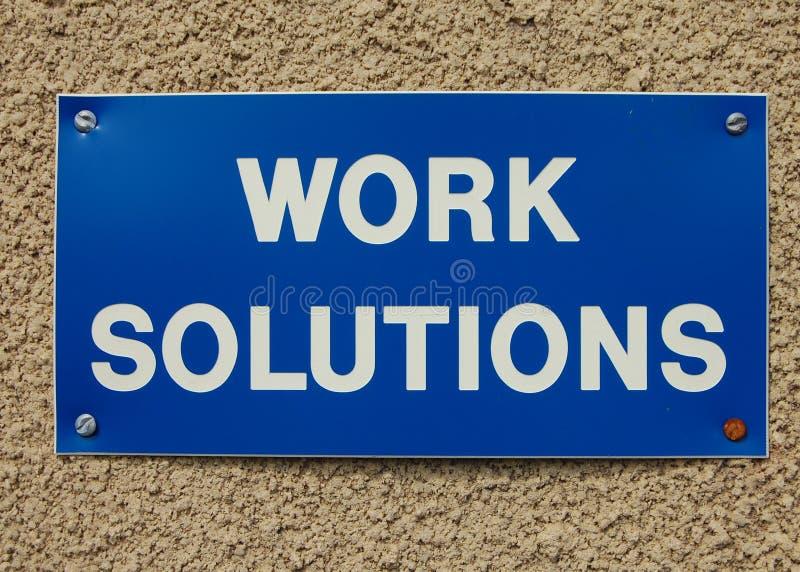 Arbeitslösungen lizenzfreie stockfotos