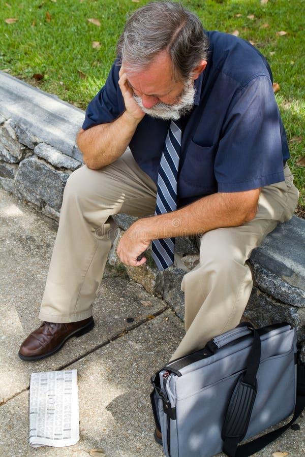 Arbeitsloser Büroangestellter lizenzfreie stockfotografie