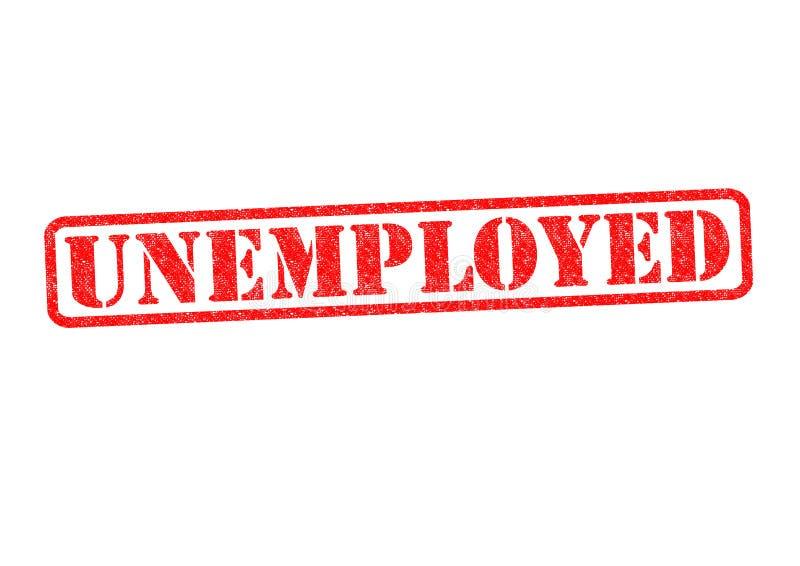Arbeitsloser Stempel stockfotos