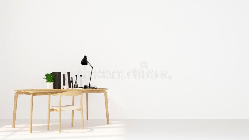 Arbeitsplatz auf weißem Hintergrund für Grafik - Wiedergabe 3D stockbilder