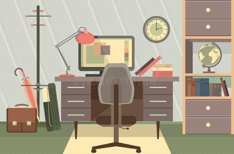 Arbeitsplatz-Büro vektor abbildung