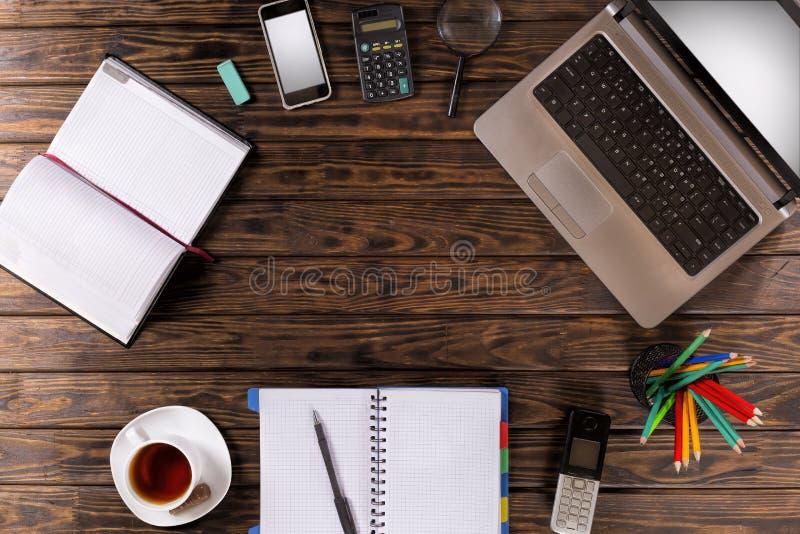 Arbeitsplatz, Marketing, Geräte, Büroeinrichtung, Geschäft, manag stockfoto