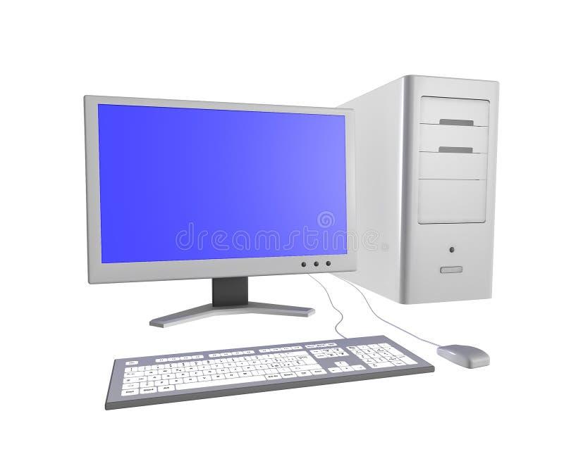 Arbeitsplatzrechner stock abbildung