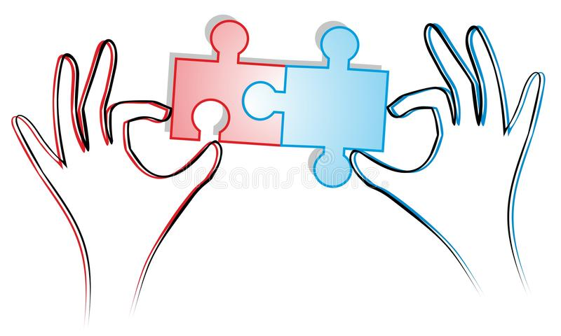 Arbeitspuzzlespiel stock abbildung