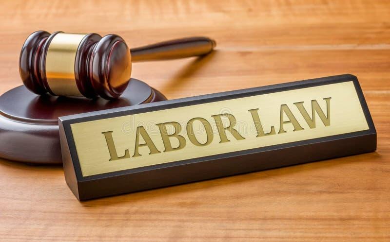 Arbeitsrecht lizenzfreies stockbild