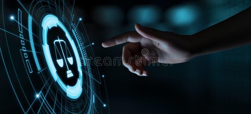 Arbeitsrecht-Rechtsanwalt-Legal Business Internet-Technologie-Konzept stockbild