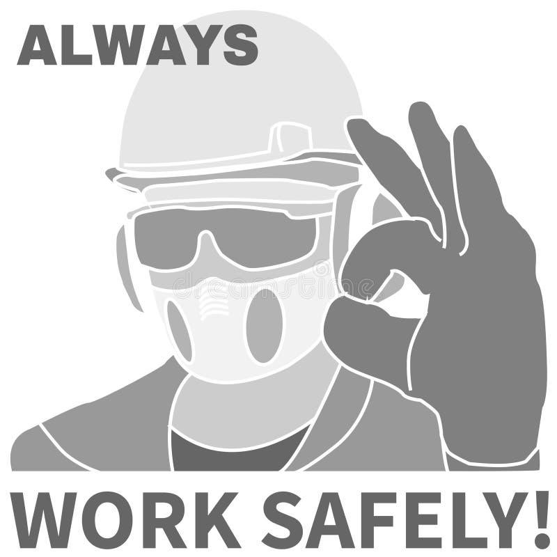 Arbeitsschutzikonen und -zeichen eingestellt vektor abbildung