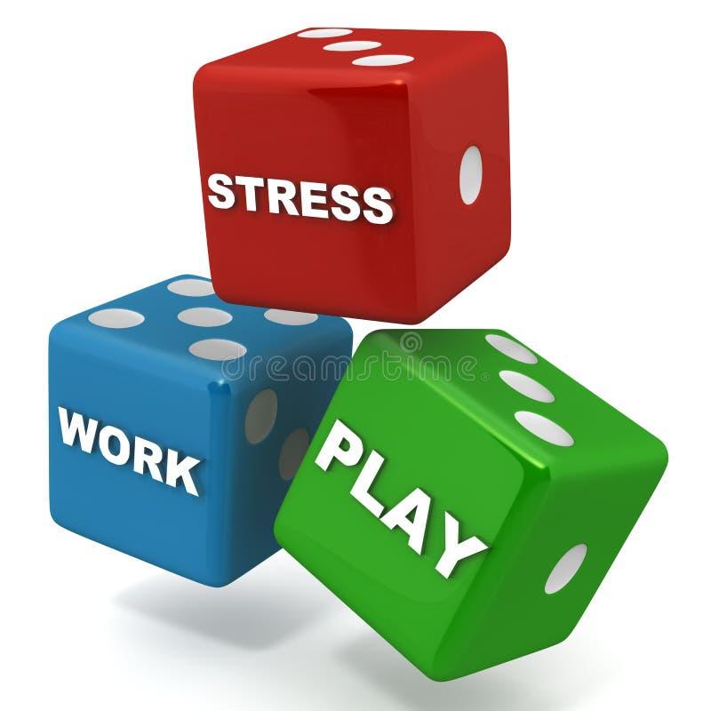Arbeitsspieldruck lizenzfreie abbildung
