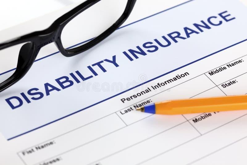 Arbeitsunfähigkeitsversicherung lizenzfreie stockbilder