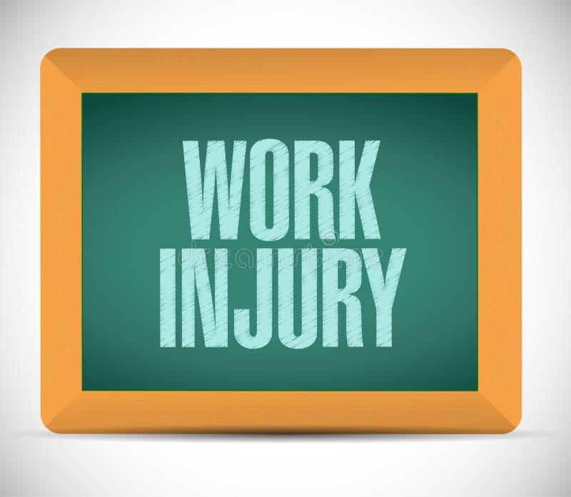 Arbeitsverletzungs-Brettzeichen-Illustrationsdesign lizenzfreie abbildung
