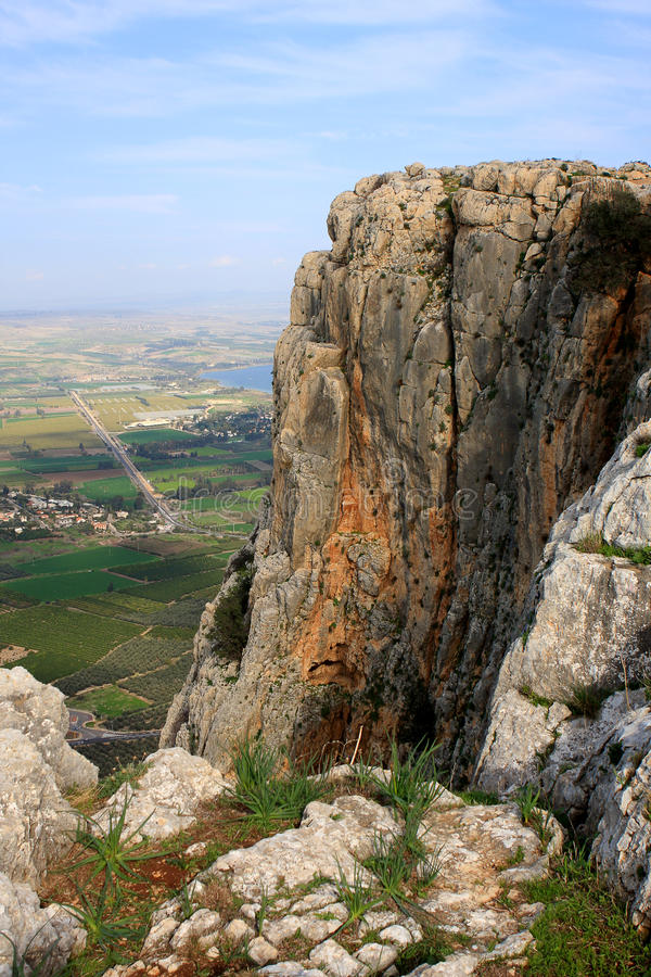 Arbel mountain, Israel royalty free stock photography