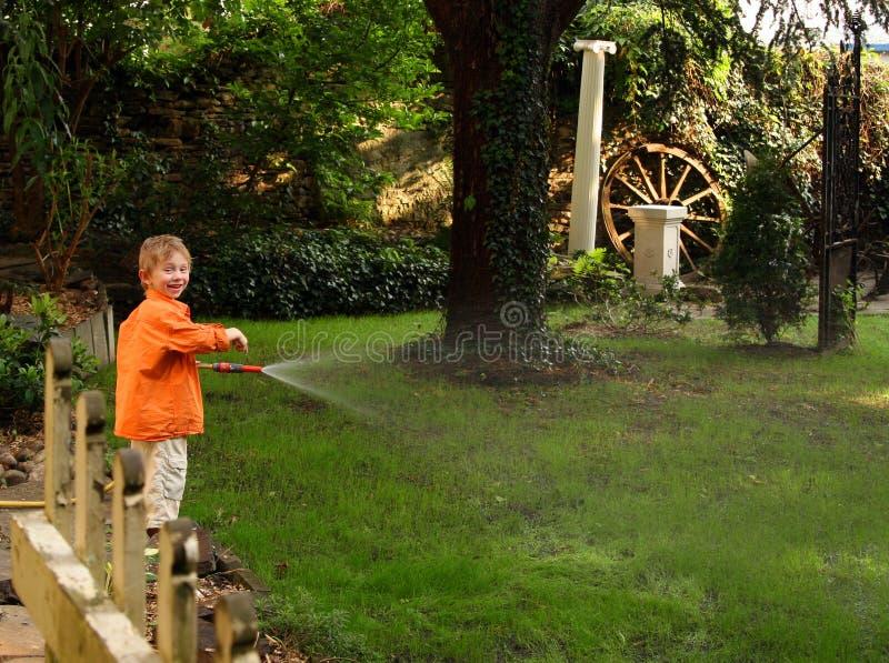 arbeta i trädgården royaltyfri bild