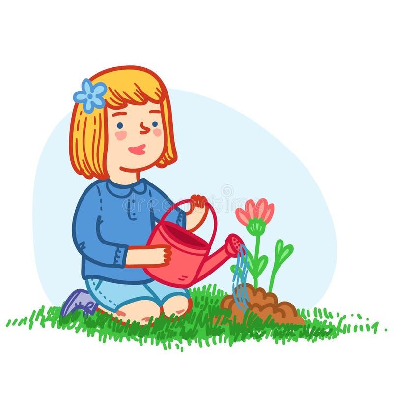 Arbeta i trädgården vektor illustrationer
