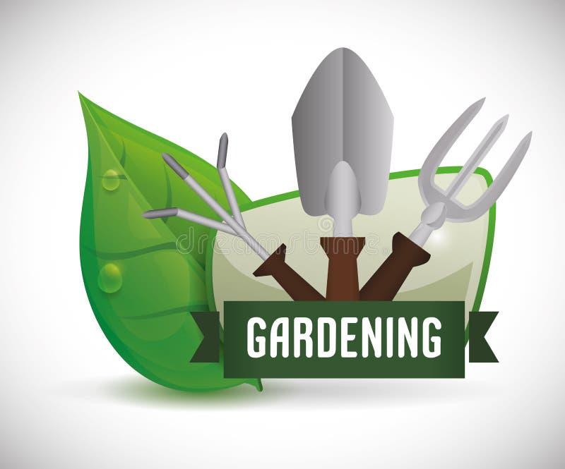 arbeta i trädgården för design vektor illustrationer